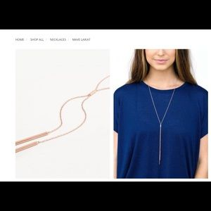 Lariat Necklace in Rose Gold by Gorjana
